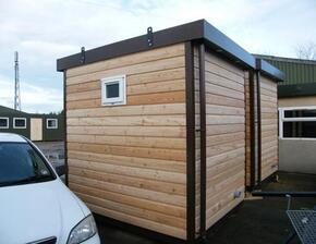 New 8ft x 8ft disabled timber clad toilet units
