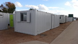 32ft x 10ft steel open plan office unit
